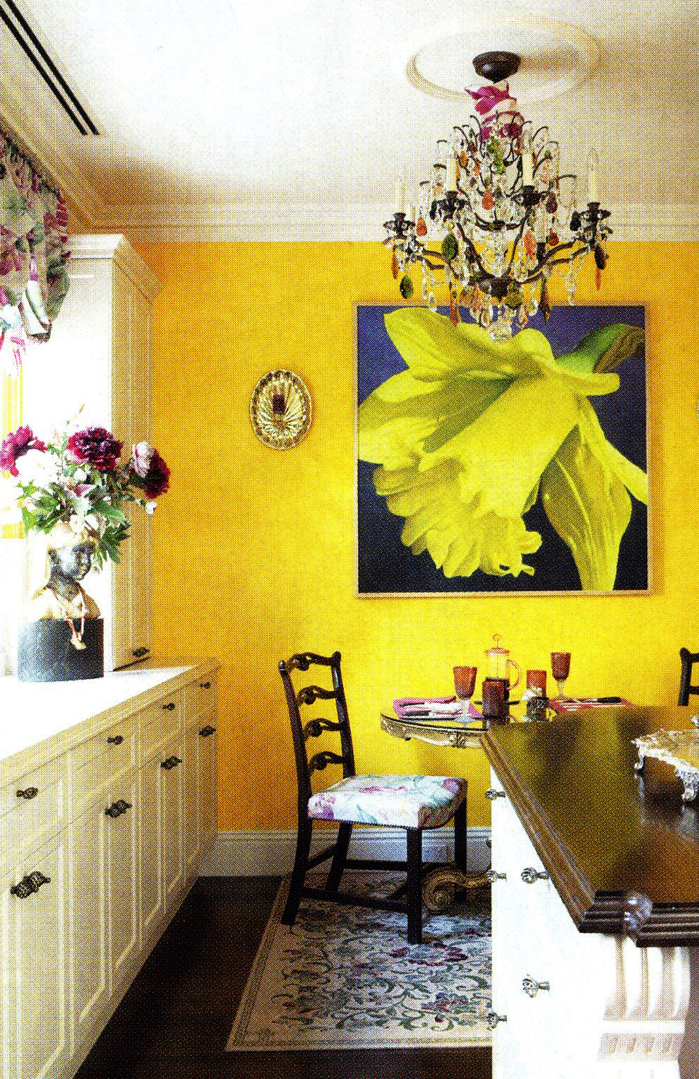'Sunnyside'hanging in Lady Susan Renouf's kitchen/dining area