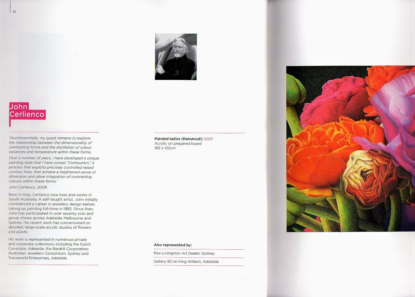 Here/Now 2009 Mossgreen's Artists exhibition catalogue